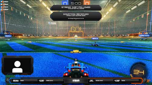 Rocket League Overlay, Carbon